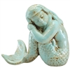 Sandy Mermaid Statue Antique Cyan
