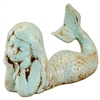 Shoalie Mermaid Statue Antique Cyan
