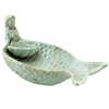 Junonia Mermaid Serving Bowl Antique Cyan