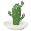 Blooming Cactus Ring Holder Tray