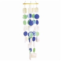 Shell Chime Purple Green White