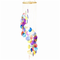 Multi Color Capiz Chime