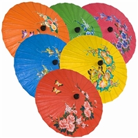 Solid Color & Flowers Parasols