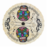 Sugar Skull Parasol Hand Painted Colors