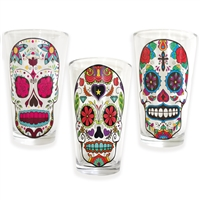 Sugar Skull Drink Glass