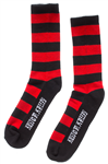 Kustom Kreeps Guys Black & Red Striped Socks