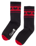 Sourpuss Bat Stripe Crew Socks