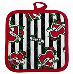 Sourpuss Stripes Cloth Face Mask (Black & White)