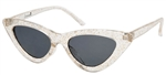 Sourpuss Sunglasses Glitter Clear Cat Eye