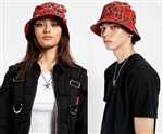 Tripp NYC Bucket Bondage Hat Red Plaid