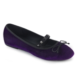 Demonia Round Toe Mary-Jane Ballet Flats Purple