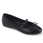 Demonia Round Toe Mary-Jane Ballet Flats