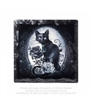 Alchemy Gothic - Cat Roses Slate Coaster