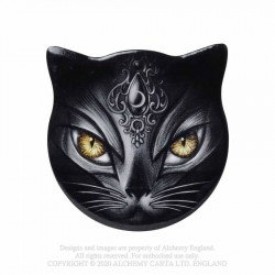 Alchemy Gothic - Cat-shape Sacred Cat Coaster