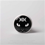 Alchemy Gothic - Triple Moon Cat Bottle Stopper Cork