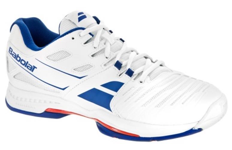 Babolat Tennis Shoes >> Babolat Sfx2 All Court Men S Tennis Shoes White Blue