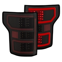 2018-2019 F150 ANZO DRL Outline LED Taillights (Black Housings)