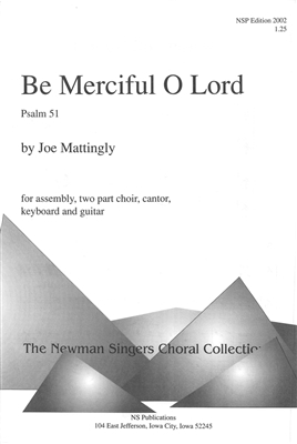 BE MERCIFUL O LORD - choral, keyboard, guitar