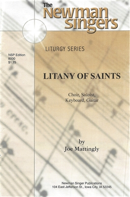 LITANY OF THE SAINTS - choral, keyboard, guitar