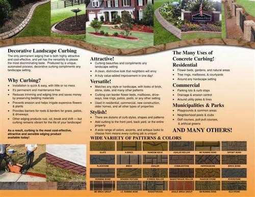 Curbing Tri Fold Brochure Full Color Generic