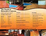 Glossy Tri-fold Decorative Concrete Brochures (qty. 1000)
