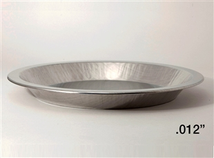 "9"" Shallow Depth Heavy Aluminum Pie Pans"