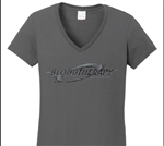 XXXL Blood Therapy Broadheads Logo Ladies V-neck T-Shirt