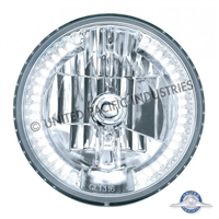 "ULTRALIT - 7"" Crystal Headlight With 34 White LED Position Light"