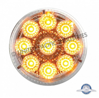 "2"" REFLECTOR LED AMBER/CLEAR L"