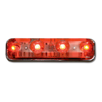 SMALL RECT. 4 RED/CLEAR LED  M