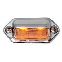 INT./UTILITY LED AMB W/CHROME HOUSING