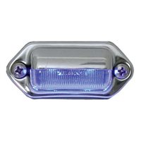INT./UTILITY LED BLUE W/CHROME HOUSING