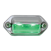 INT//UTILITY LED GREEN W/CHROME HOUSING