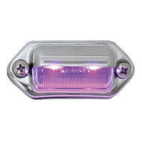 INT/UTILITY LED PURPLE W/ CHROME HOUSING