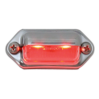 INT/UTILITY LED RED W/ CHRM HOUSING