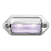 LICENSE/UTILITY LED WHITE W/ CHROME HOUSING