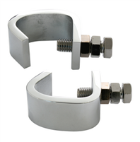 BUMPER GUIDE CLAMPS CHROME