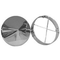 CHROME PLASTIC FRONT HUB COVER