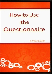 How To Use The Questionnaire DVD by Bill Sudduth