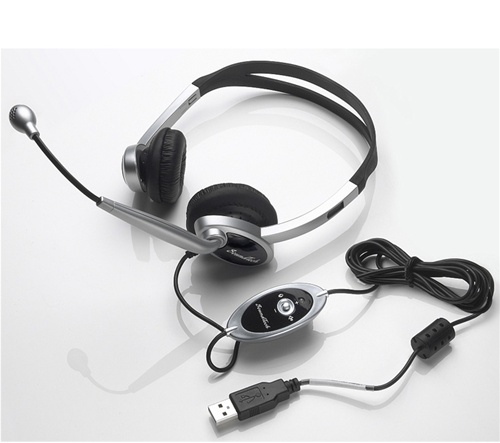 Hp Usb Voice Recognition Voip Usb Stereo Headset Microphone Hpusb