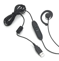 Spectra SE-USB Clamshell-Style Transcription Headset