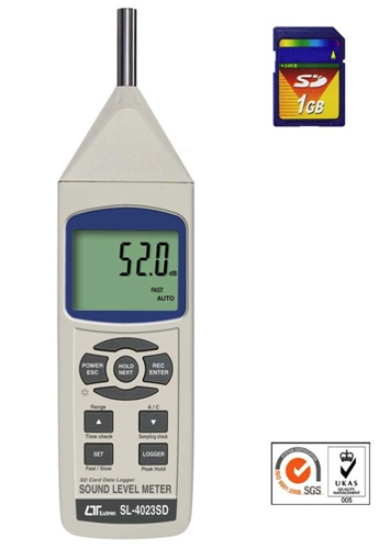 SL-4023SD / Industrial Sound Level Meter Datalogger Records Data to SD  Memory Card