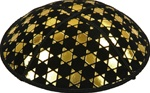 Gold Foil Star of David Embossed Kippot (GI92) - With Custom Imprinting