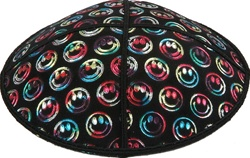 Multicolor Foil Smiley Embossed Kippot (MC48) - With Custom Imprinting