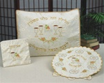 Pesach Set- Pillow Cover, Matzah Cover, Afikoman Bag