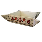 Embroidered Folding Basket