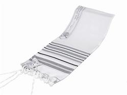 Tashbetz Wool Tallit - Prayer Shawl with Choice of Stripe Color