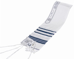 Wool Tallit - Prayer Shawl with Lurex and Choice of Stripe Color
