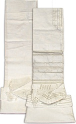 Gabrielli White Silk Tallit Set