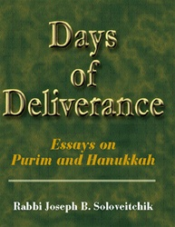 Days of Deliverance: Essays on Purim and Hanukkah